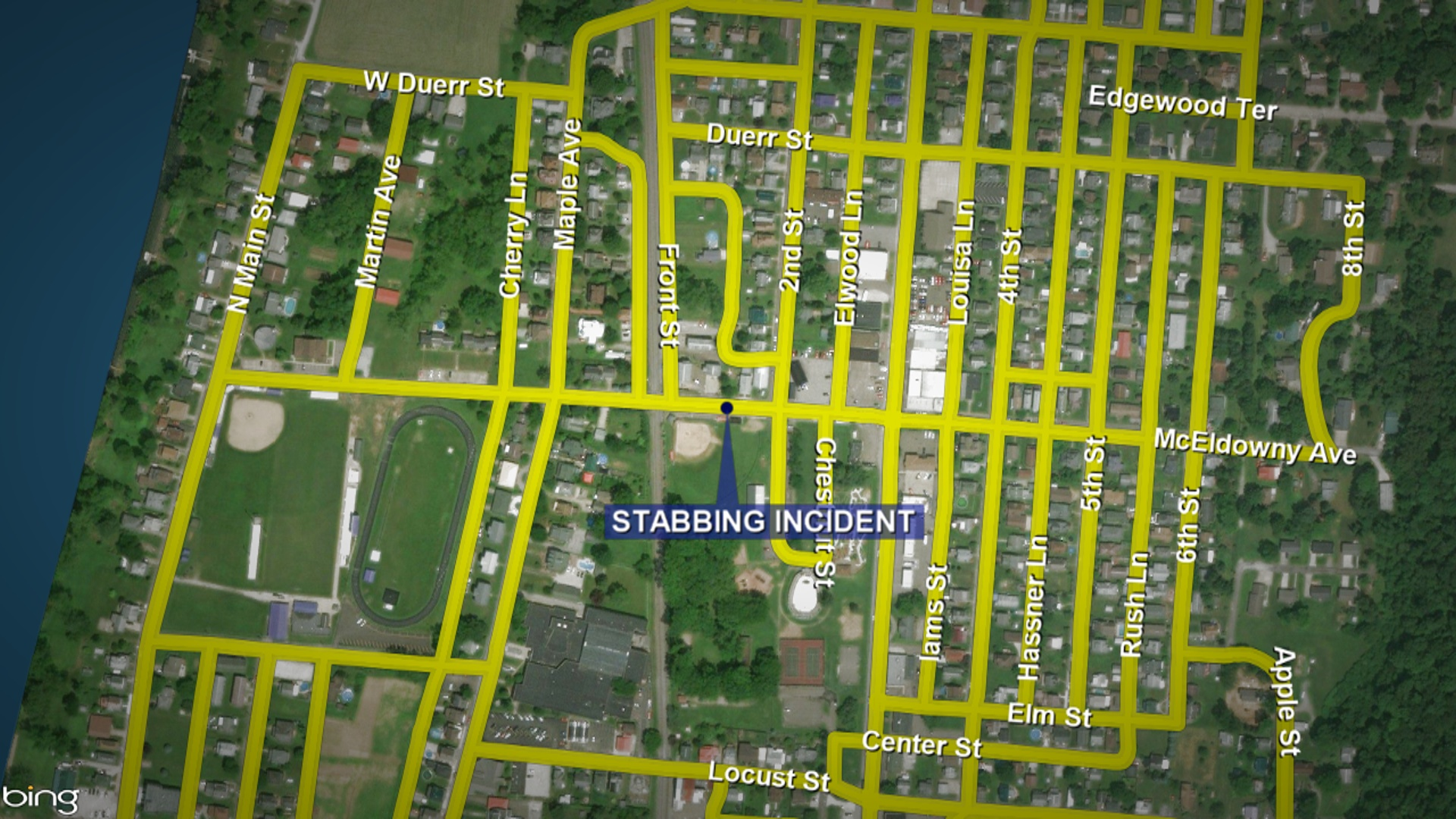 New Martinsville PD searching for alleged stabbing suspect