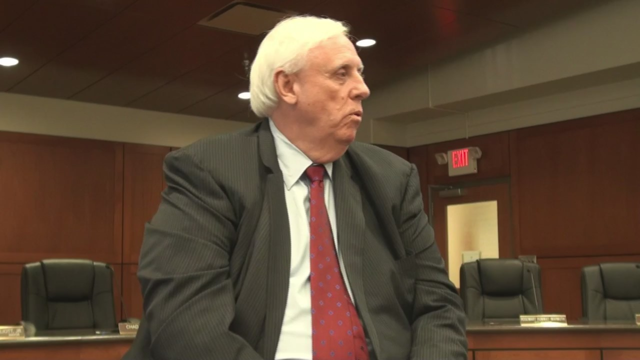 West Virginia Governor Jim Justice says things in the state are