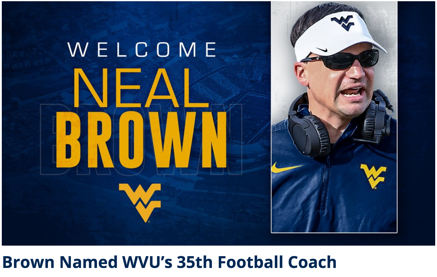 Welcome Neal Brown to WVU-794306114