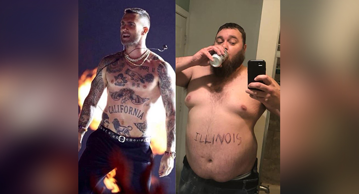 Adam Levine Halloween 2020 Illinois man goes viral aping Adam Levine's shirtless stint at Big