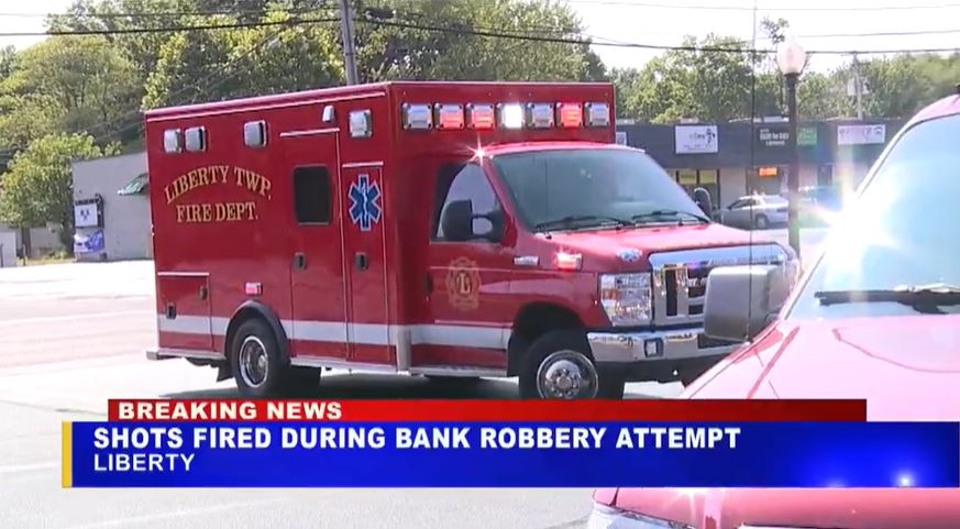 Suspect shot during attempted bank robbery near Youngstown