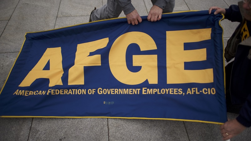 Federal workers' union files lawsuit over use of political