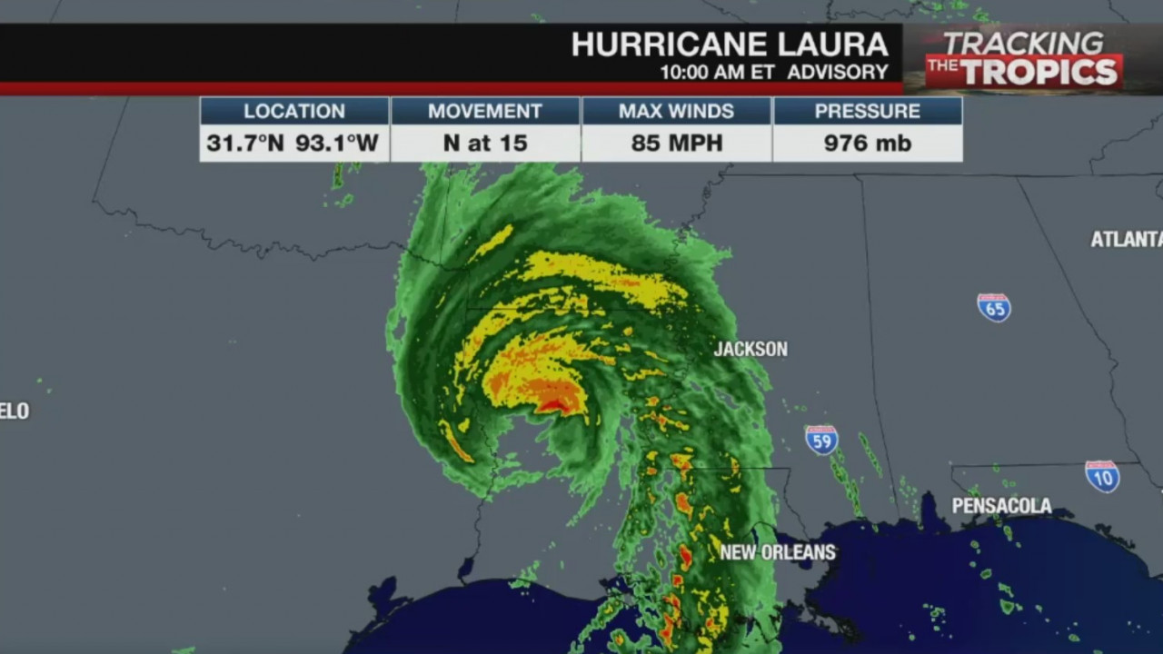 Laura Weakens To Tropical Storm Bringing Damaging Winds And Flooding Rainfall As It Moves Inland Wtrf