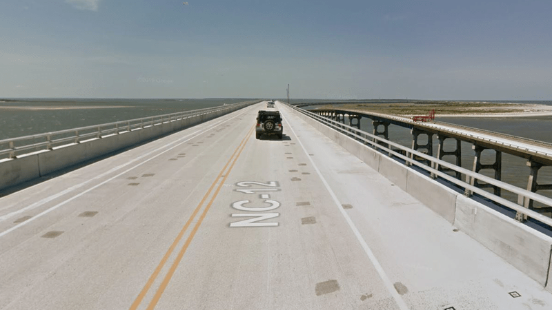 1 dead after section of Outer Banks bridge drops 110 feet into inlet