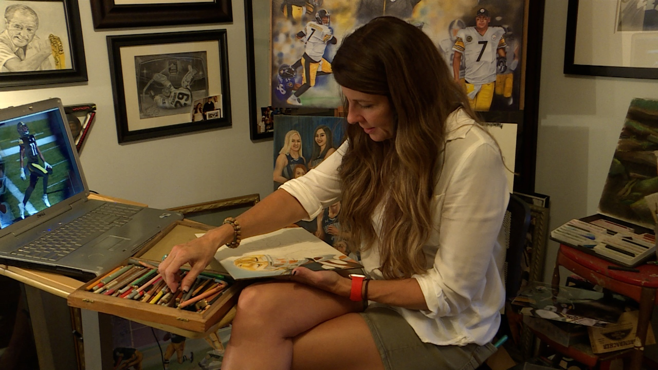 Local artist's lifelike Steelers portraits could soon become tattoos - WTRF